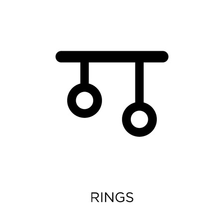 Rings icon. Rings symbol design from Gym and fitness collection. Simple element vector illustration on white background.