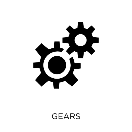Gears icon. Gears symbol design from Strategy collection. Simple element vector illustration on white background. Illusztráció