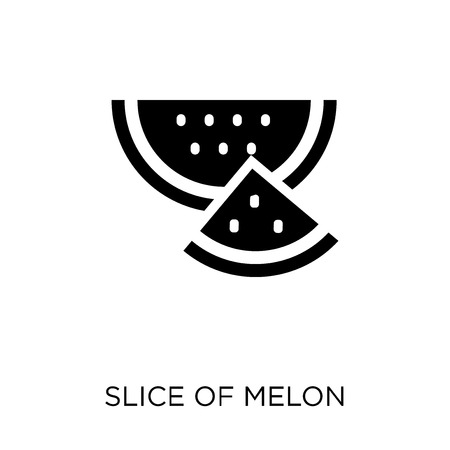 Slice of melon icon. Slice of melon symbol design from Summer collection. Simple element vector illustration on white background. Standard-Bild - 112092417