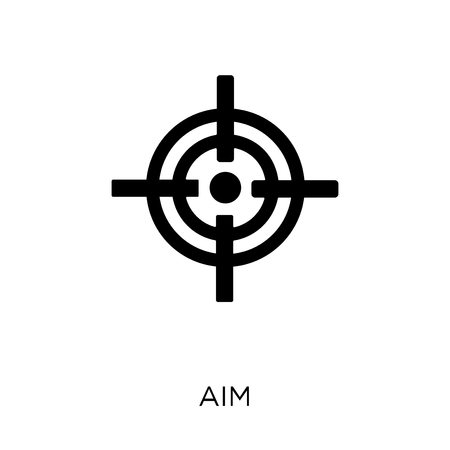 Aim icon. Aim symbol design from Success collection. Simple element vector illustration on white background.