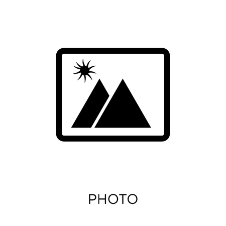 Photo icon and symbol design from Travel collection. Simple element vector illustration on white background.