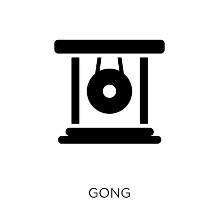 Gong icon. Gong symbol design from Music collection. Simple element vector illustration on white background.