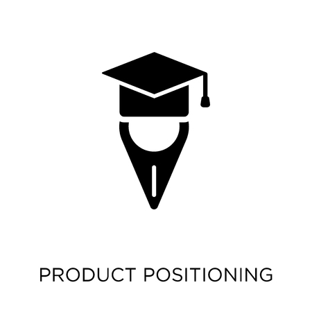 Product Positioning icon. Product Positioning symbol design from Maps and locations collection. Simple element vector illustration on white background. Ilustracje wektorowe