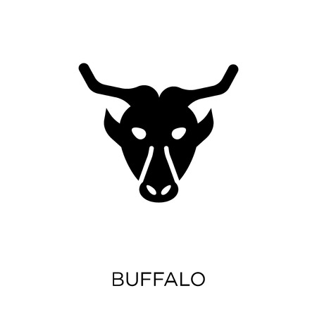 Buffalo icon. Buffalo symbol design from Animals collection. Simple element vector illustration on white background.