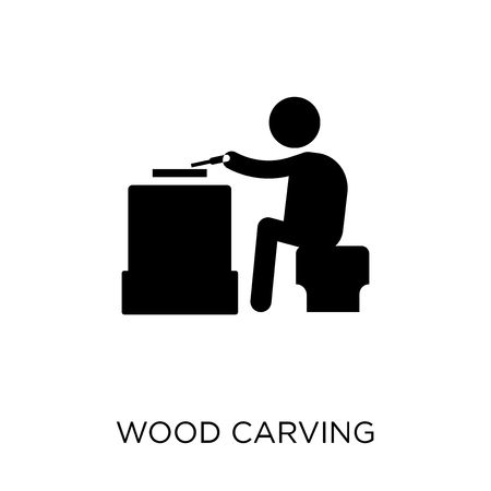 Wood carving icon. Wood carving symbol design from Activity and Hobbies collection. Simple element vector illustration on white background.