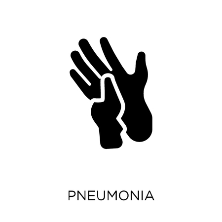 pneumonia icon. pneumonia symbol design from Diseases collection. Simple element vector illustration on white background.