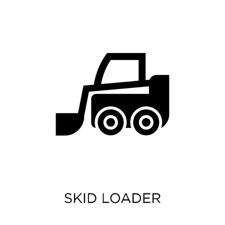 skid loader icon. skid loader symbol design from Industry collection. Simple element vector illustration on white background.