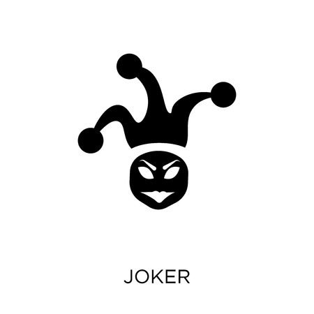 Joker icon and symbol design from Fairy tale collection. Simple element vector illustration on white background.