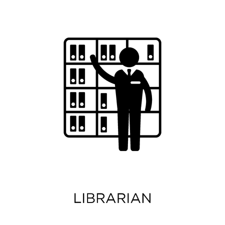 Librarian icon. Librarian symbol design from Professions collection. Simple element vector illustration on white background.