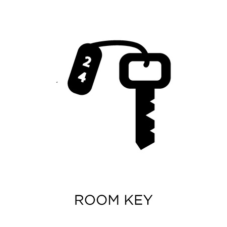 Room key icon. Room key symbol design from Hotel collection. Simple element vector illustration on white background.