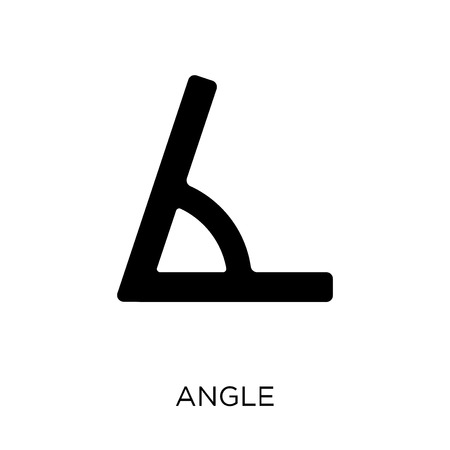 Angle icon. Angle symbol design from Geometry collection. Simple element vector illustration on white background.