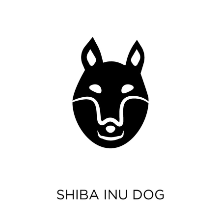 Shiba Inu dog icon. Shiba Inu dog symbol design from Dogs collection. Simple element vector illustration on white background. Illustration