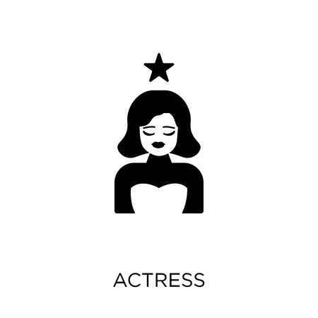 actress icon. actress symbol design from Cinema collection. Simple element vector illustration on white background. Illustration