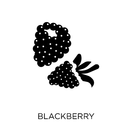 Blackberry fruit symbol design from Fruit and vegetables collection. Simple element vector illustration on white background.
