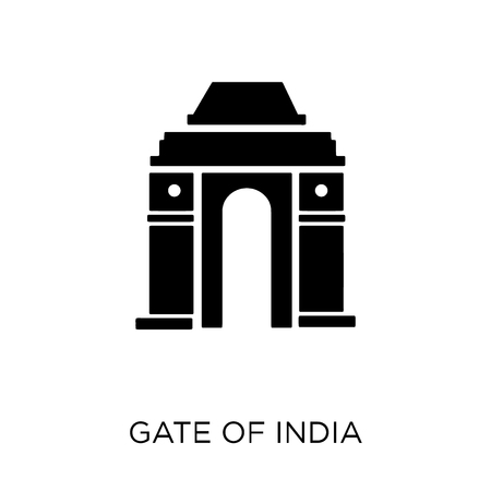 Gate of india icon. Gate of india symbol design from India collection. Simple element vector illustration on white background.