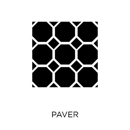 Paver icon. Paver symbol design from Construction collection. Simple element vector illustration on white background. Stock Illustratie