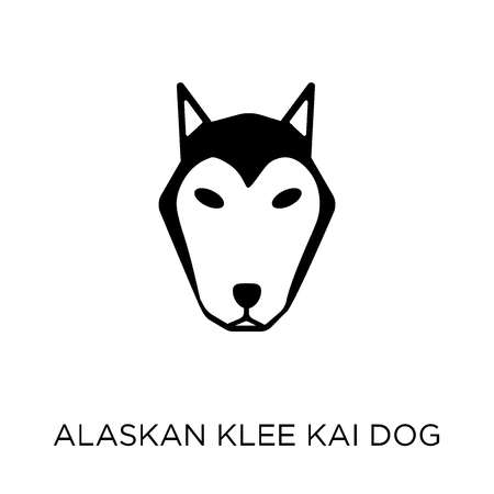 Alaskan Klee Kai dog icon. Alaskan Klee Kai dog symbol design from Dogs collection. Simple element vector illustration on white background. Иллюстрация