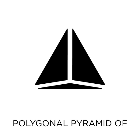 Polygonal pyramid of triangles icon. Polygonal pyramid of triangles symbol design from Geometry collection. Simple element vector illustration on white background. Çizim