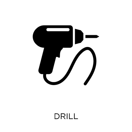 Drill icon. Drill symbol design from Construction collection. Simple element vector illustration on white background.