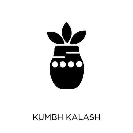 Kumbh kalash icon. Kumbh kalash symbol design from India collection. Simple element vector illustration on white background.