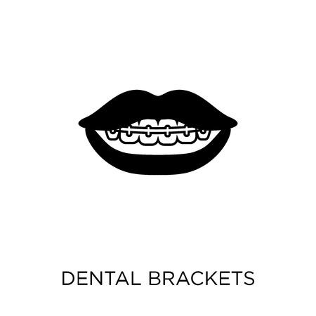 Dental Brackets icon. Dental Brackets symbol design from Dentist collection. Simple element vector illustration on white background.