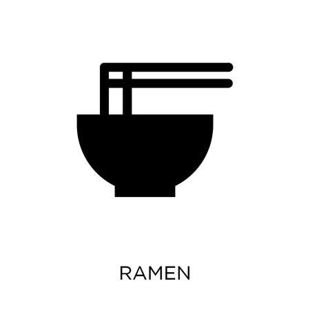 Ramen icon. Ramen symbol design from Restaurant collection. Simple element vector illustration on white background. Illustration