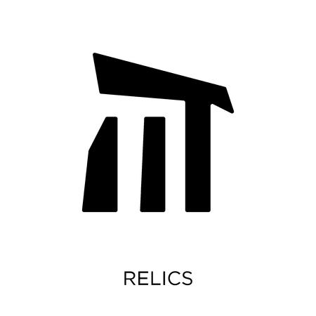 Relics icon and symbol design. Simple element vector illustration on white background.