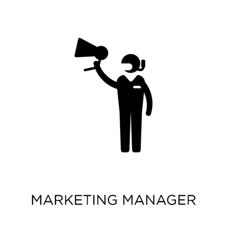 Marketing Manager icon. Marketing Manager symbol design from Professions collection. Simple element vector illustration on white background.
