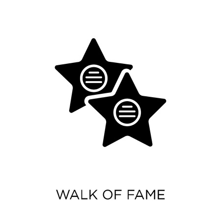 Walk of fame star icon and symbol design for Artist Colection. Simple element vector illustration on white background.