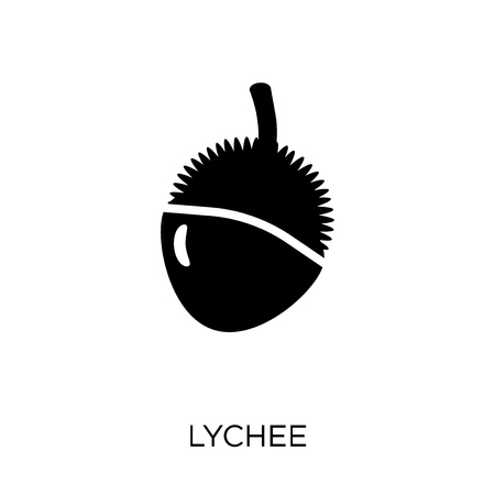 Lychee icon. Lychee symbol design from Fruit and vegetables collection. Simple element vector illustration on white background. Banque d'images - 112435240