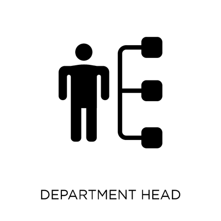 Department Head icon. Department Head symbol design from Business collection. Simple element vector illustration on white background. Illusztráció