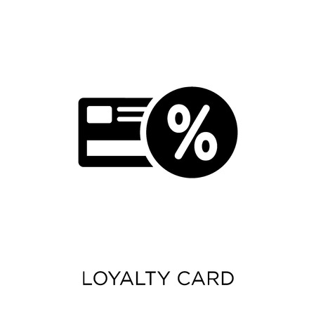 Loyalty card icon. Loyalty card symbol design from Ecommerce collection. Simple element vector illustration on white background. Ilustração