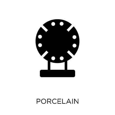 Porcelain icon. Porcelain symbol design. Simple element vector illustration on white background.