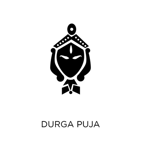 durga puja  icon. durga puja  symbol design from India collection. Simple element vector illustration on white background.