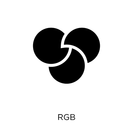 Rgb icon. Rgb symbol design from Geometry collection. Simple element vector illustration on white background.