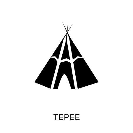 Tepee icon. Tepee symbol design from Desert collection. Simple element vector illustration on white background. Illustration