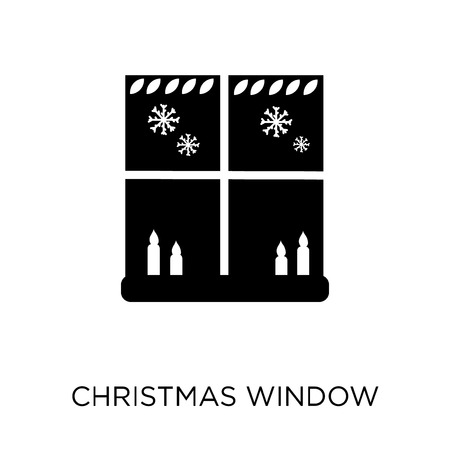 Christmas window icon. Christmas window symbol design from Christmas collection. Simple element vector illustration on white background.