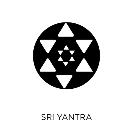 Sri yantra icon. Sri yantra symbol design from Geometry collection. Simple element vector illustration on white background.