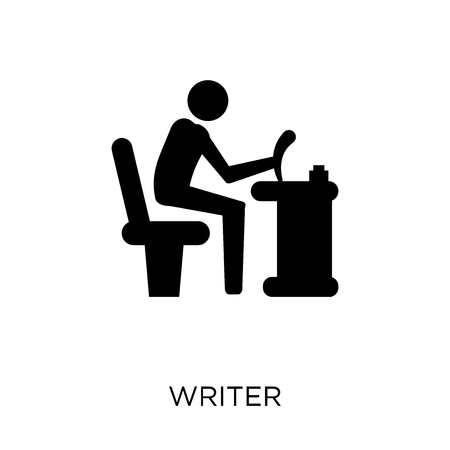 Writer icon. Writer symbol design from Professions collection. Simple element vector illustration on white background. Illustration