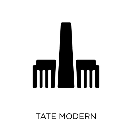 Tate modern icon and symbol design. Simple element vector illustration on white background. 일러스트