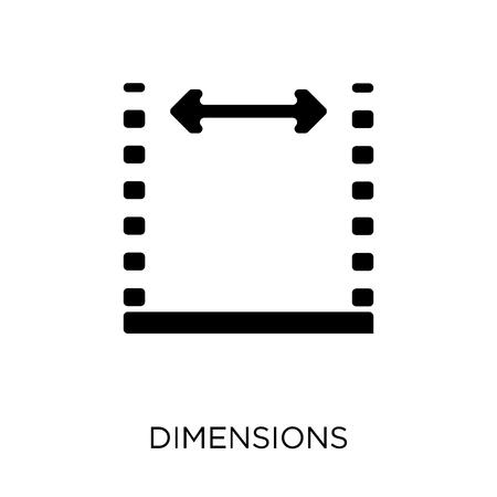 Bemaßungssymbol. Bemaßungssymboldesign aus der Geometriesammlung. Einfache Elementvektorillustration auf weißem Hintergrund.