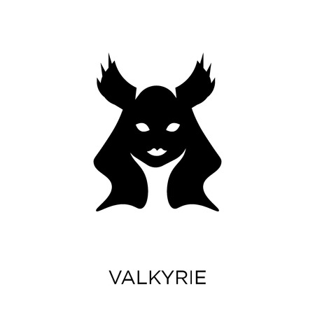 Valkyrie icon. Valkyrie symbol design from Fairy tale collection. Simple element vector illustration on white background.