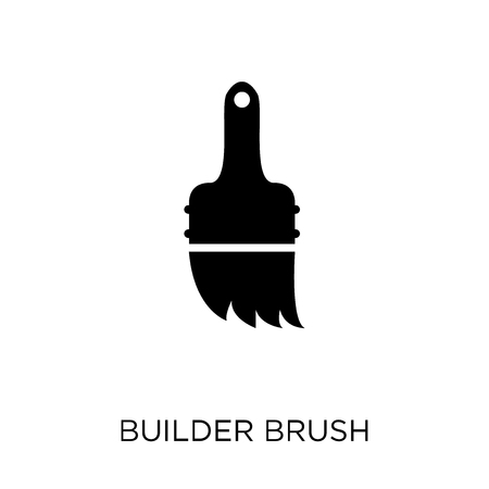 builder Brush icon. builder Brush symbol design from Construction collection. Simple element vector illustration on white background.