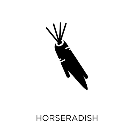 Horseradish icon. Horseradish symbol design from Fruit and vegetables collection. Simple element vector illustration on white background. Stock Illustratie
