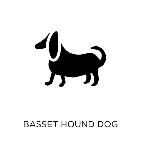 Basset Hound dog icon. Basset Hound dog symbol design from Dogs collection. Simple element vector illustration on white background.