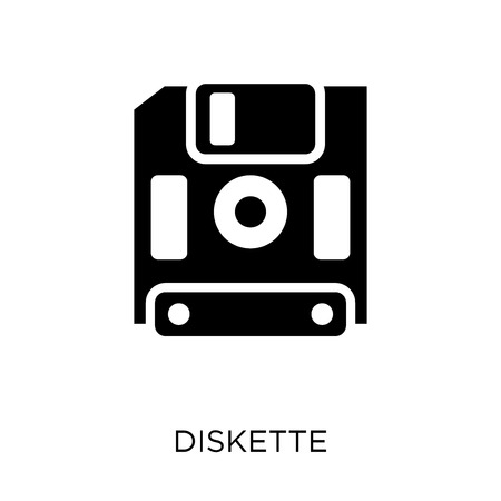 Diskette icon. Diskette symbol design from Communication collection. Simple element vector illustration on white background. 向量圖像