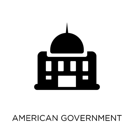 American government building icon. American government building symbol design from Political collection. Simple element vector illustration on white background. Illustration