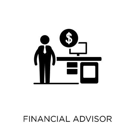 Financial Advisor icon. Financial Advisor symbol design from Professions collection. Simple element vector illustration on white background. Illustration