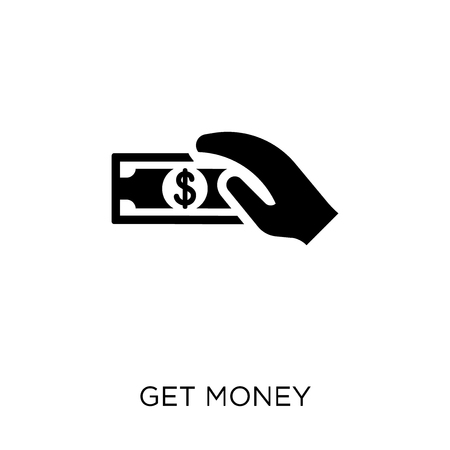 Get money icon. Get money symbol design from Payment collection. Simple element vector illustration on white background. Çizim