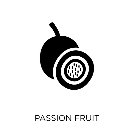 Passion fruit icon. Passion fruit symbol design from Fruit and vegetables collection. Simple element vector illustration on white background. Standard-Bild - 112556255